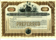 Unissued Boston Railroad Holding Company Stock certificate