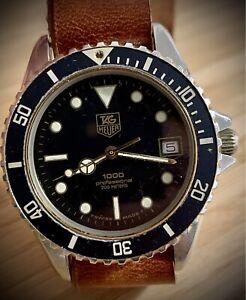 Vintage Watch Tag Heuer 1000 Diver