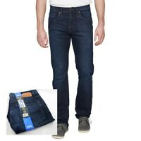 Urban Star Mens Dark Wash Blue Denim 5 Pocket Jeans Pants Relaxed Fit Size 36x32