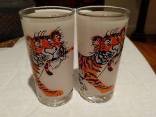 1960's ESSO EXXON Tiger Pair of Drinking Glasses Tumblers Promo Item