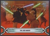 2019 Topps Star Wars Chrome Legacy Orange Refractors #46 The Jedi Arrive 15/25