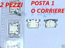 CONNETTORE RICARICA (2PEZZ  MICRO USB PER Mediacom PhonePad Duo X530U M-PPCX530U