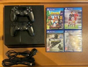 Sony PlayStation 4 PS4 CUH-1216A 1TB Console & 2 Controllers & 4 Games Bundle