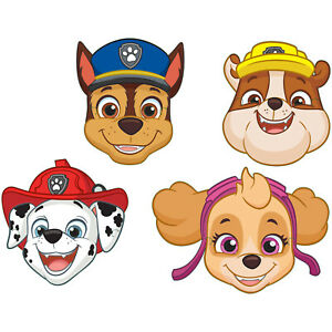 8 x Paw Patrol Assorted Childrens Party Masks Favours Loot Fillers Party Prizes