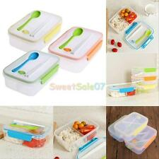 Lunch Box Food Container Picnic Storage Portable Bento Microwave Bowl Spoon NEW