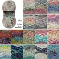 King Cole Opium Palette Chunky Knitting Yarn Knit Craft Wool Cotton 100g Ball