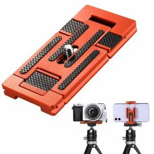 K&F Concept camera phone aluminum alloy quick release plate with 1/4 inch screws