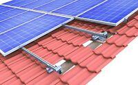 Ziegeldach Montagesystem für Solarmodule alle Größen 1-6 Module 28-52mm Rahmen