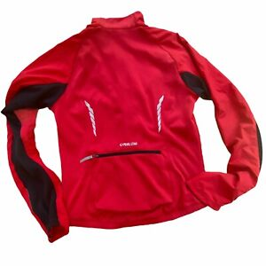 Pearl Izumi Men's Selec Series Softshell Thermal Full Zip Jacket Red Small EUC