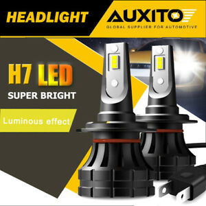 AUXITO H7 LED Headlight Bulb Super Bright Kit High Low Beam White 20000LM Canbus