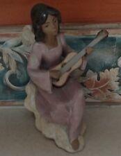 "Lladro 2196 ""Heavenly Solo"" Gres Angel Cherub Playing Guitar - Mwob, Rv$350"
