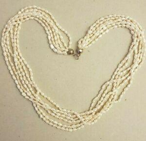 Collana torchon perle di fiume scaramazze chiusura in argento