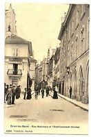 CPA 74 Haute-Savoie Evian-les-Bains Rue Nationale et Etablissement Thermal animé