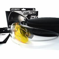Ess Glasses TR90 Military Tactical Glasses Bulletproof Sunglasses UV 400 3 Lens