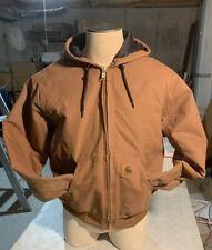 New Carhartt Work jacket Hoodie Duck Brown  Men's Size L / Large Regular