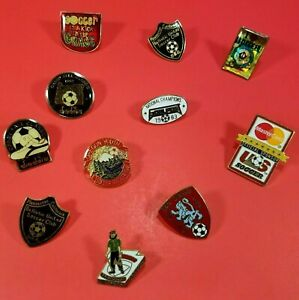 Lot Of 11 Vintage Youth Soccer Lapel Pins Mostly from the Early 1990's Sports