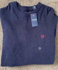Men's Ralph Lauren Chaps Crew Neck Sweater 2XB Big & Tall Navy Blue