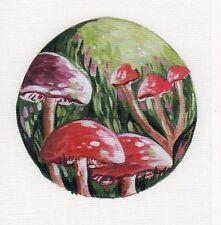 RED MUSHROOMS VINYL DECAL ART STICKER for LAPTOP TABLET TILE HOME DECOR