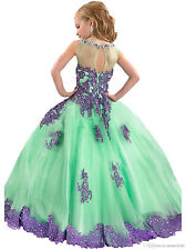 n2 flower girls dress  formal party birthday ball gown pageant wedding size8