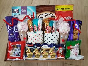 Couples Luxury Hot Chocolate Hamper Christmas Gift Xmas Galaxy Lindt His & Hers