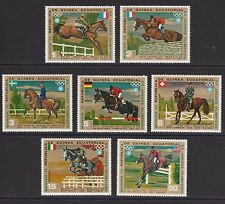 Horses Olympics Munich set of 7 mnh stamps 1972 Equatorial Guinea dressage