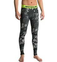 Under Armour UA Mens HeatGear Compression Leggings M L XL 2XL Black/Steel Camo