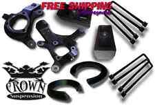 "Crown Suspension 1999-2007 Silverado 5""-4"" Lift Kit Spindles Blocks Spacers"