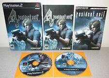 RESIDENT EVIL 4 IV PlayStation 2 Steelbook w/Manual Prologue Bonus Disc Horror