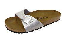 BIRKENSTOCK Madrid Damen Sandale Silber Schuhe, Größe:41