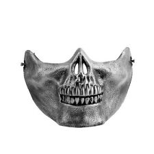 Skull Skeleton Airsoft Game Hunting Biker Half Face Protect Gear Mask Guard#XD