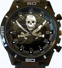 Pirate Skull New Gt Series Sports Wrist Watch FAST UK SELLER