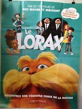 Affiche LE LORAX. 120 x 160 cms. Kev Adams, François Berleand, Alexandra Lamy
