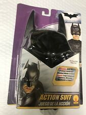 Rubies Batman Dark Knight Action Suit Child(8-10) Jumpsuit, Molded Mask, Cape