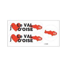 Planche A4 de stickers Département 95 j'aime Le Val D'oise autocollant adhésif