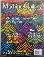 Machine Quilting Unlimited Jul Aug 2017 Karen S Stone Challenge FREE SHIPPING sb