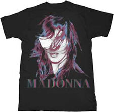 Madonna-MDNA Face + Logo Graphics-X-Large Black T-shirt