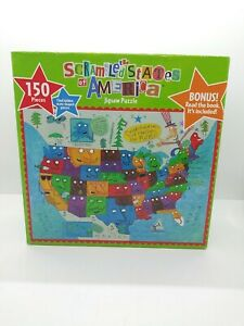 The Scrambled States of America Puzzle and Book Set ( NIB )