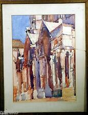 SUPER GREAT C1900 WATERCOLOR OF CATHEDRAL by JOHN SINGER SARGENT