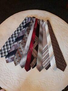 12 x Men's Vintage Polyester Ties 70's & 80's