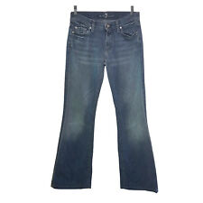 7 FOR ALL MANKIND WOMENS JEANS SIZE 28 BLUE DISTRESSED DENIM