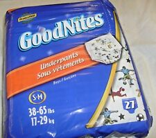 Goodnites Boys Underpants S-M 38-65 lbs 27ct Soccer Players
