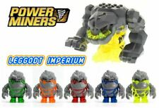 Lego Power Miners Minifigures - Rock Monster - Boulderax Firoz Glaciator Meltrox