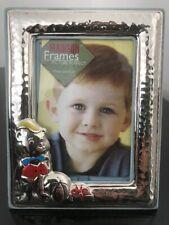 Hallmarked 925 Sterling Silver Enameled Child Picture Frame