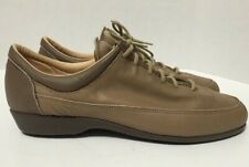 Vintage Zodiac Oxfords Shoes Taupe Leather Womens Size 9.5M