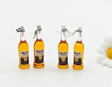 3D Vintage 50's Retro CORONA BEER Bottle Style Novelty Earrings Dress Accessory