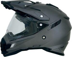 AFX FX-41 GREY SOLID ADV Dual Sport Helmet FREE SHIPPING