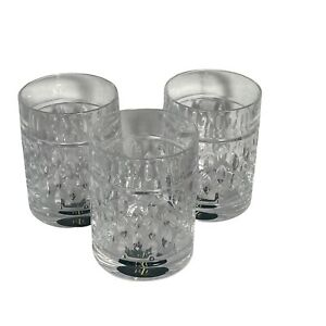 RALPH LAUREN Quality Crystal 12oz Double Old Fashioned Glass Aston DOF Set Of 3
