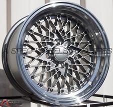 15X8 +20 ROTA OS MESH 4X100 STEEL GREY WHEELS Fits Vw Jetta Golf Cabrio Corrado