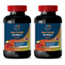 Liv 52 - HAWTHORN 665MG EXTRACT - Dietary Supplement for the Heart - 2Bot 120Ct