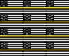 """2-6/"""" Thin YELLOW Line American Subdued Flag Decal Security USA Sticker RL"""